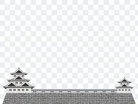 Japanese castle frame 2