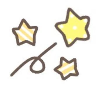 明星可愛插畫粉彩流星