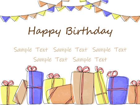 手寫的生日賀卡
