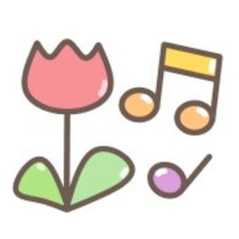 鮮花鬱金香音符豐富多彩的音樂