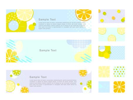 Colorful fruit pattern banner frame frame