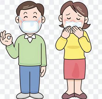 花粉症綜合症PM 2.5面膜預防