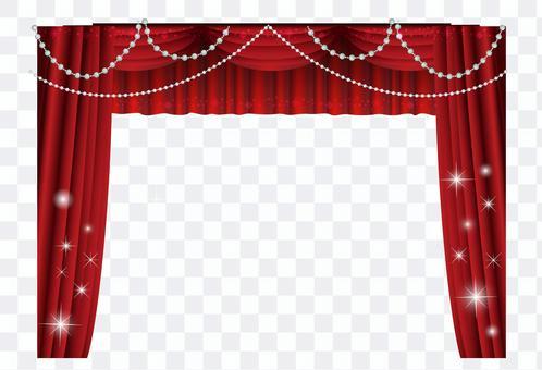 華麗的舞台窗簾架