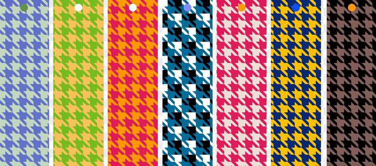 Japanese pattern bookmark houndstooth