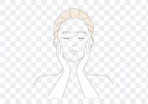 女性肌膚前護膚彩妝