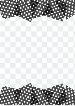 單色的點框架