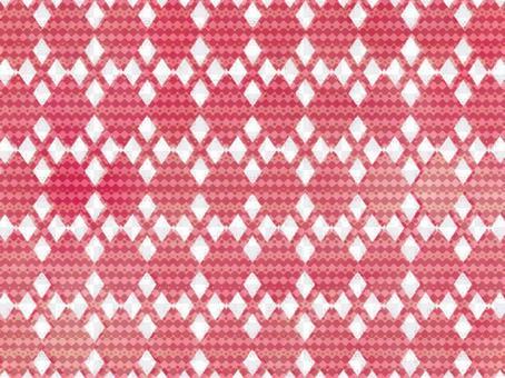 象針刺的Argyle樣式背景紅色
