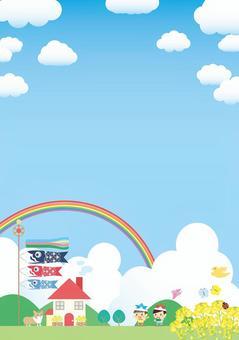 5月兒童節的垂直框架