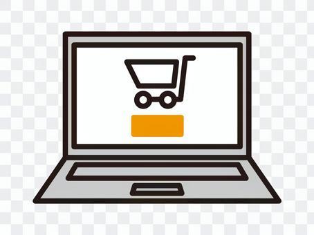 Online shopping computer