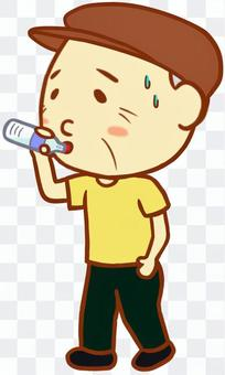 Elderly male (hydration supplement)