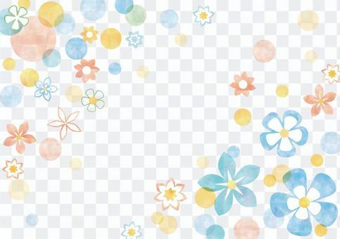 花卉图案_柔和的背景