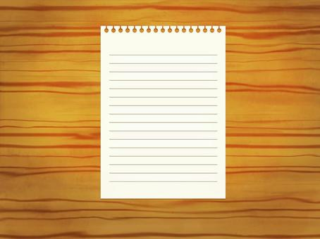Desktop note paper (with ruled line)