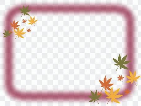 楓和框架 - 酒紅色