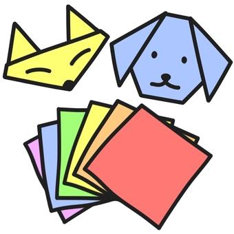 摺紙(彩色)