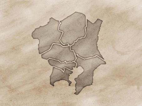 關東地區地圖舊地圖風
