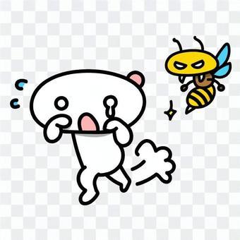 插圖插圖:蜜蜂在哭泣的臉上