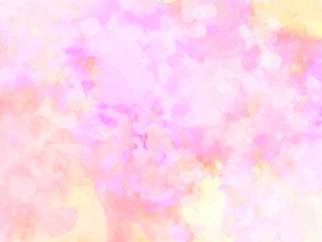 黃色和粉紅色的奇妙水彩紋理背景