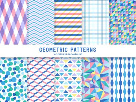 A set of pop geometric patterns