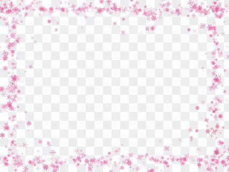 Snow crystal frame (pink)