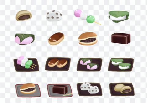 手繪日本甜點套裝