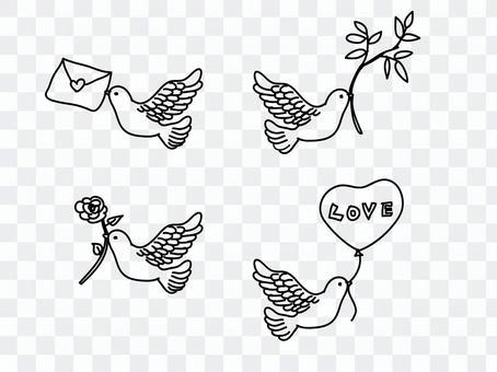 一只载着祝福的鸽子