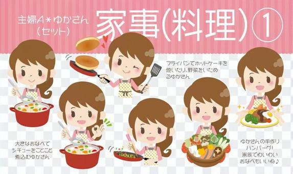 Housewife A * household food ①