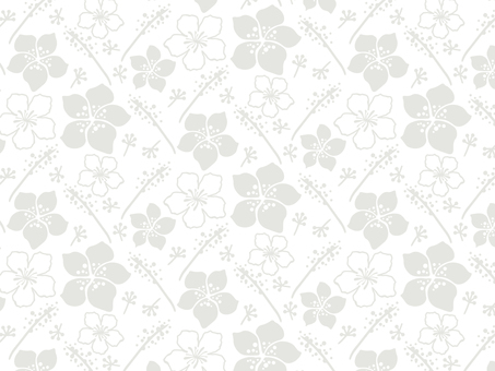 Modern floral pattern 11 gray / white background
