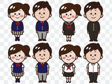 Student wear (blazer · school run · sailor suit)