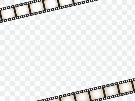 Diagonal simple sepia film frame