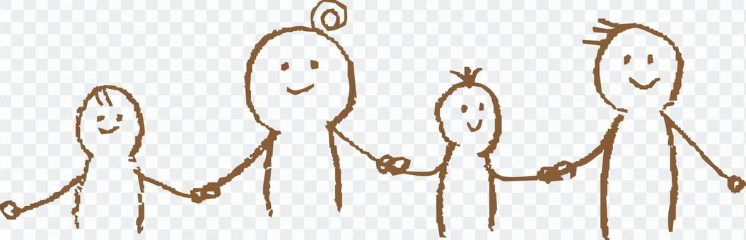Hands holding a family