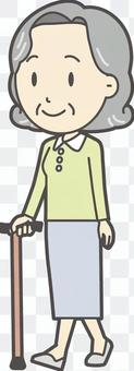 Elderly Bob Female - 354 - whole body