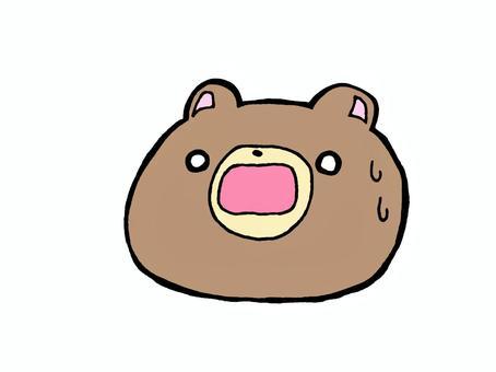 驚訝的熊1 2