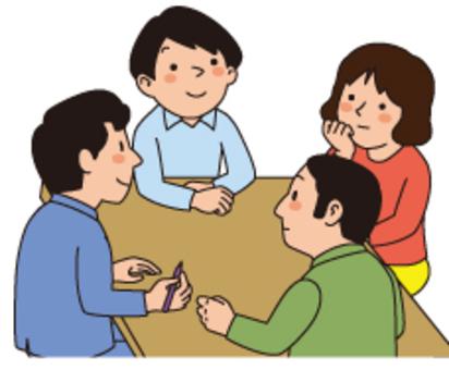 四個人討論