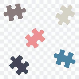 散らばったパズルピース01
