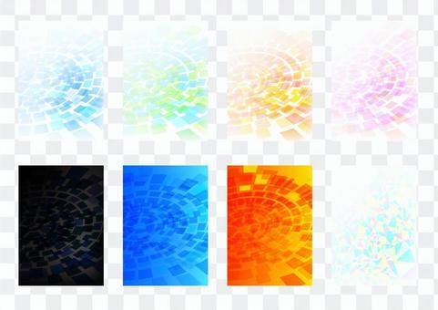 柔和的藍色同心垂直背景素材集