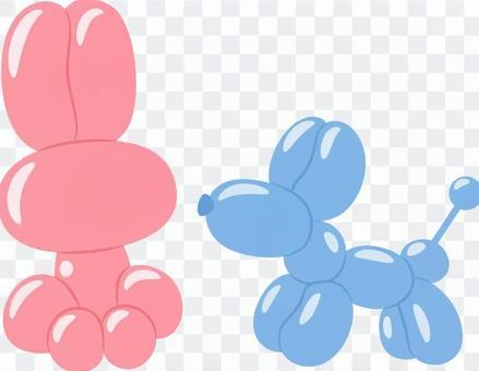 Balloon art _ rabbit and dog