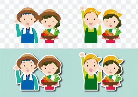 有男人和女人的蔬菜