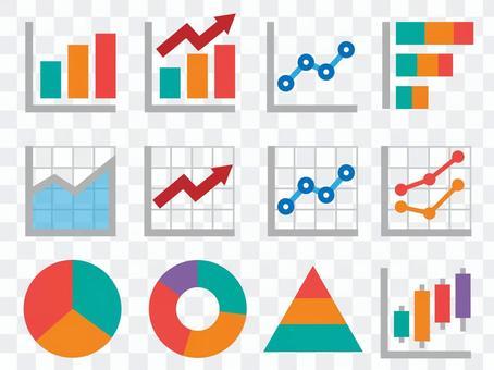 商務顏色圖標②_圖表