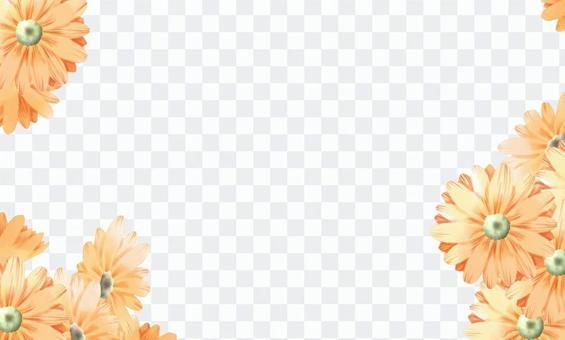 Business card (chrysanthemum, gerbera)
