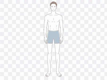 Male whole body