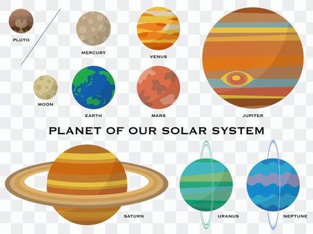 太陽系行星 set-01