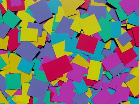 大量隨機放置的彩色紙