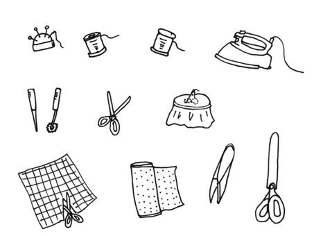 縫紉黑色和白色