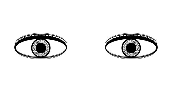 Eyes, see, iris, pupils, silhouette