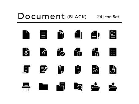 Icon set (documents / black)