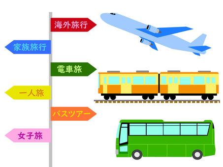 乘飛機、火車或巴士旅行、觀光和休閒 1