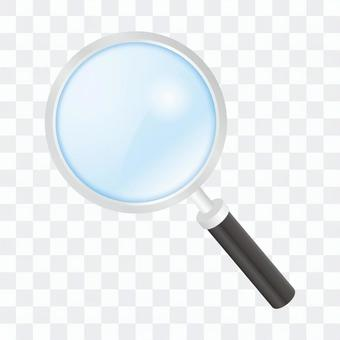 Magnifying glass blue loupe