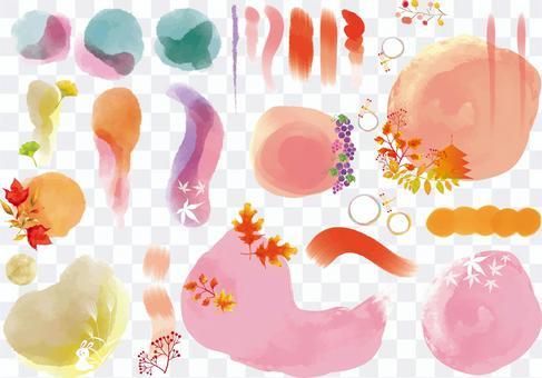 Autumn various paint collection