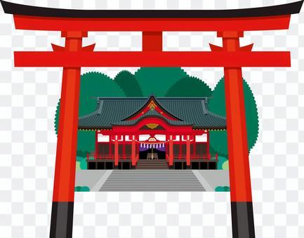 神社鳥居建築