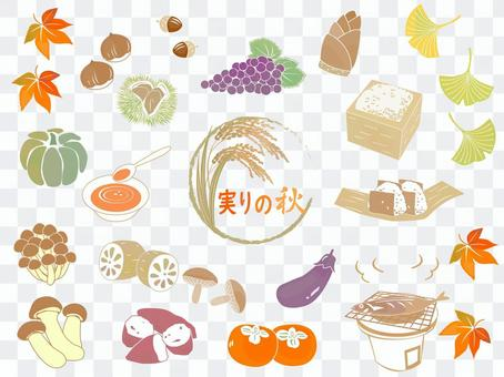 Fruitful autumn vegetables and fruits